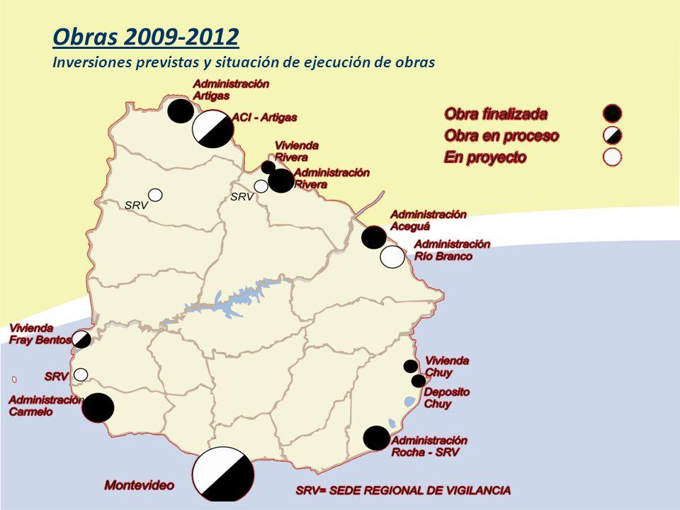 Obras 2009-2012 Inversiones previstas y situación de ejecución de obras
