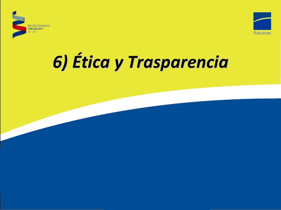6) Ética y Trasparencia