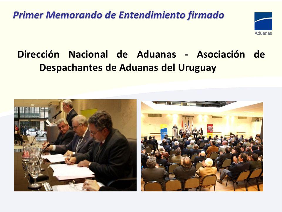 Primer Memorando de Entendimiento firmado Dirección Nacional de Aduanas - Asociación de Despachantes de Aduanas del Uruguay