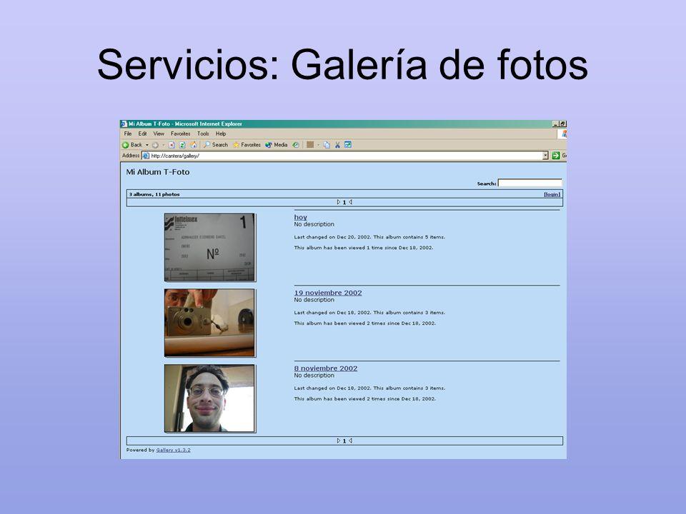 Servicios: Galería de fotos
