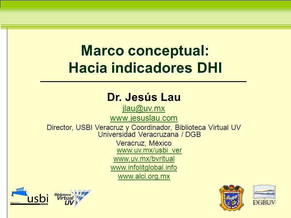 Marco conceptual: Hacia indicadores DHI Dr.