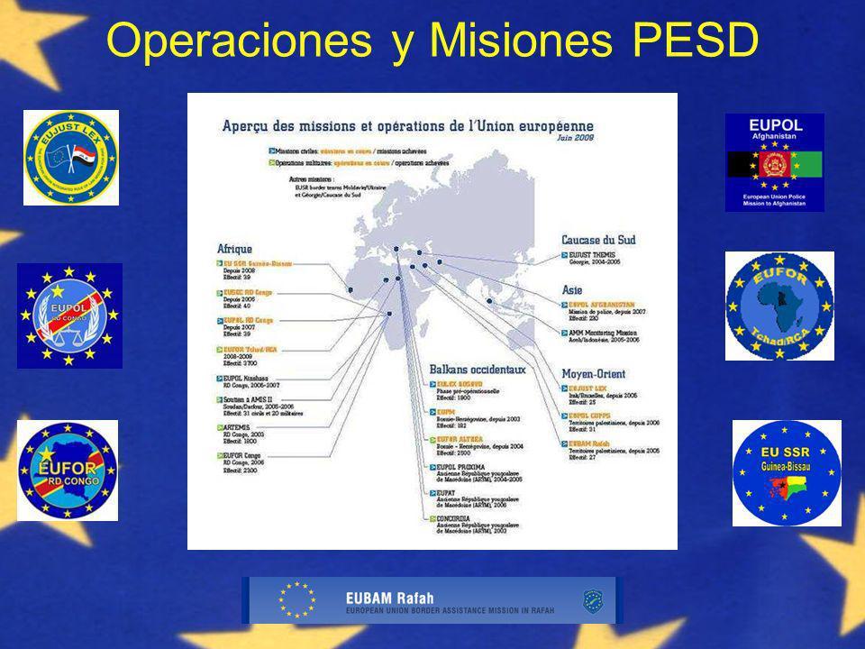 Operaciones y Misiones PESD