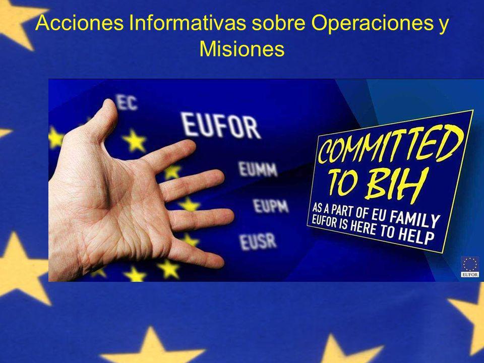 Acciones Informativas sobre Operaciones y Misiones