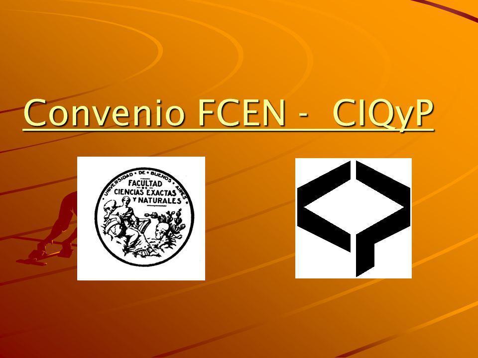 Convenio FCEN - CIQyP