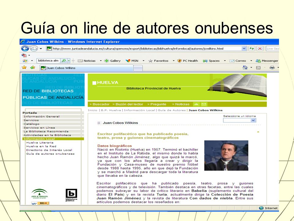 Guía on line de autores onubenses