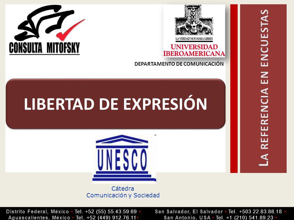 Cátedra Comunicación y Sociedad LIBERTAD DE EXPRESIÓN Distrito Federal, México Tel.