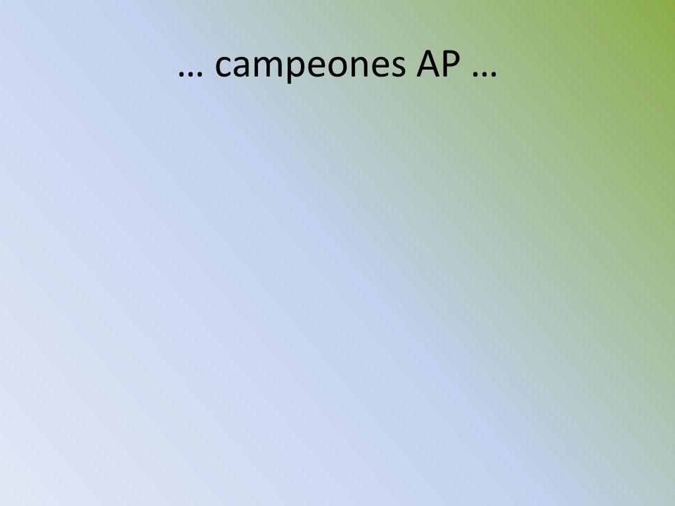 … campeones AP …