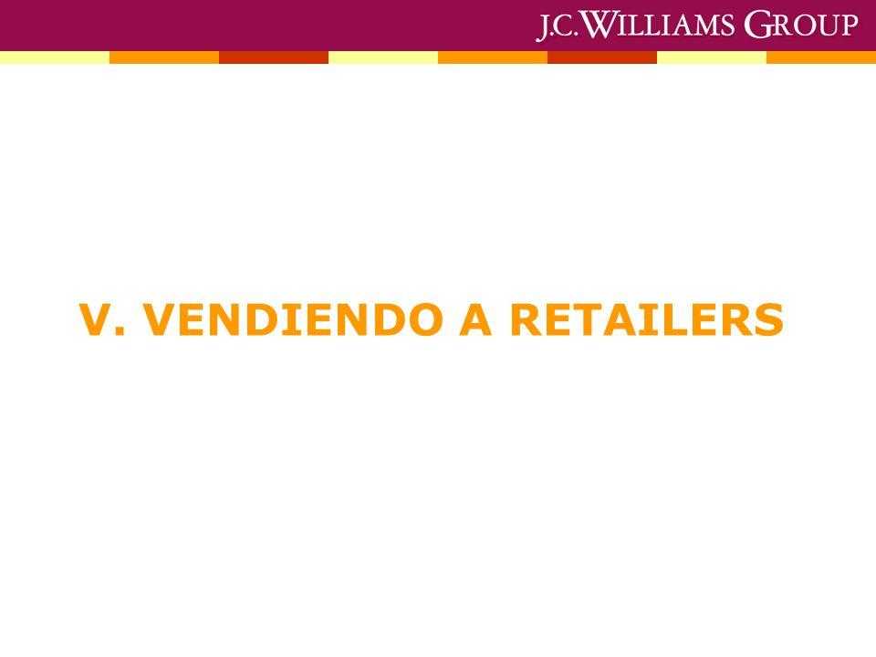 V. VENDIENDO A RETAILERS