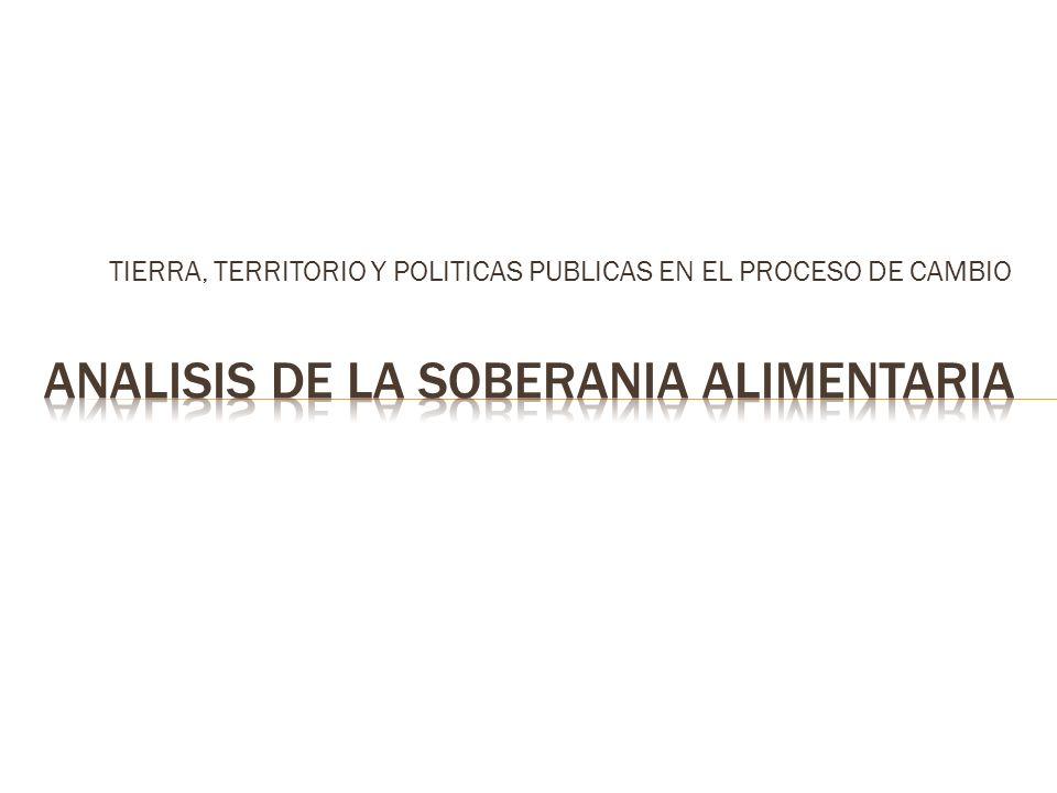 TIERRA, TERRITORIO Y POLITICAS PUBLICAS EN EL PROCESO DE CAMBIO