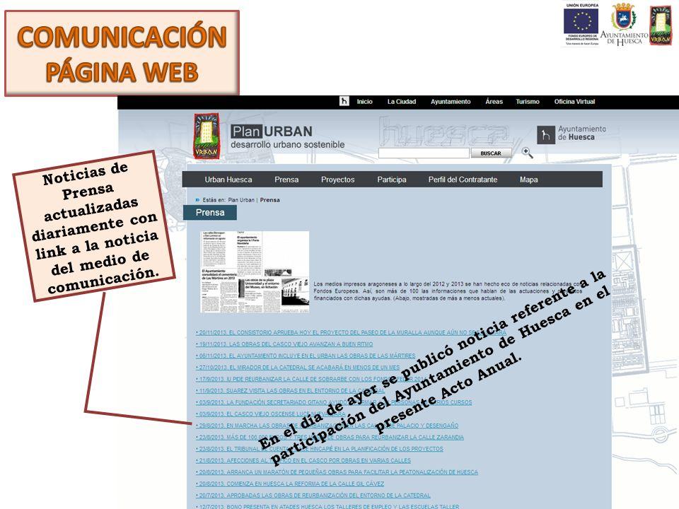 Noticias de Prensa actualizadas diariamente con link a la noticia del medio de comunicación. En el día de ayer se publicó noticia referente a la parti