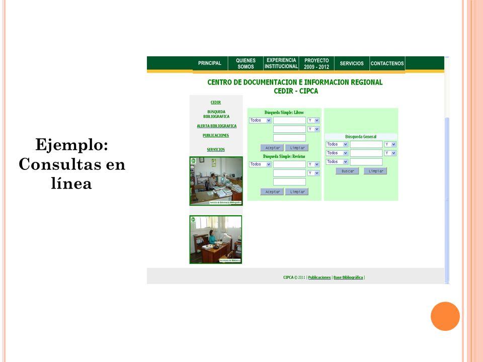 Ejemplo: Consultas en línea
