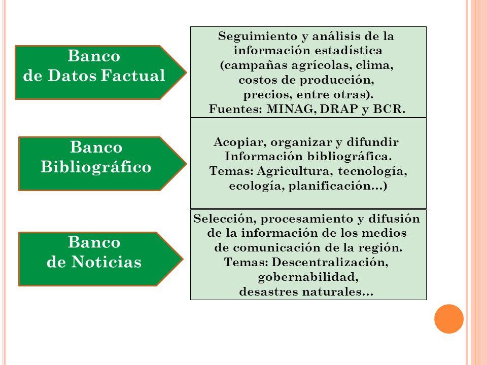 Seguimiento y análisis de la información estadística (campañas agrícolas, clima, costos de producción, precios, entre otras).
