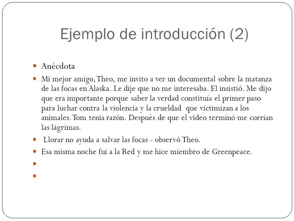 Ejemplo de introducción (3) Referencia literaria En la novela Next, de Michael Crichton,............