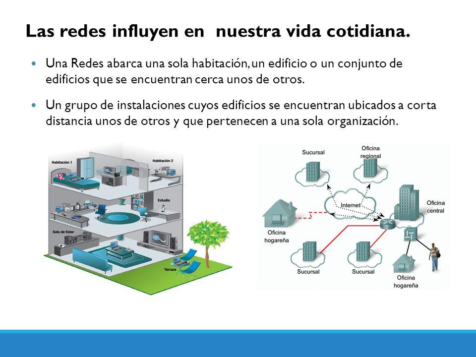 Las redes influyen en nuestra vida cotidiana. Una Redes abarca una sola habitación, un edificio o un conjunto de edificios que se encuentran cerca uno