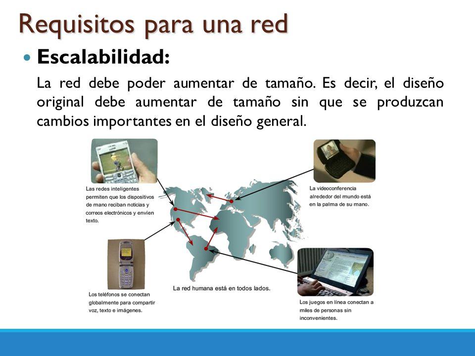 Adaptabilidad: La red debe diseñarse teniendo en cuenta futuras tecnologías.