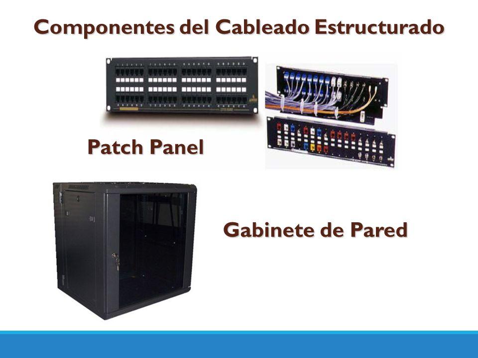Componentes del Cableado Estructurado Patch Panel Gabinete de Pared