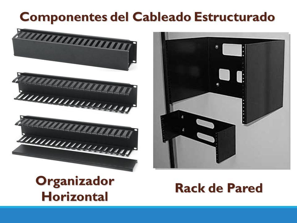 Componentes del Cableado Estructurado Organizador Horizontal Rack de Pared