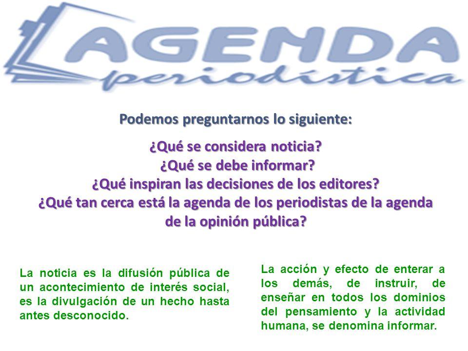 Todo material periodístico es información, pero no toda información es periodística..