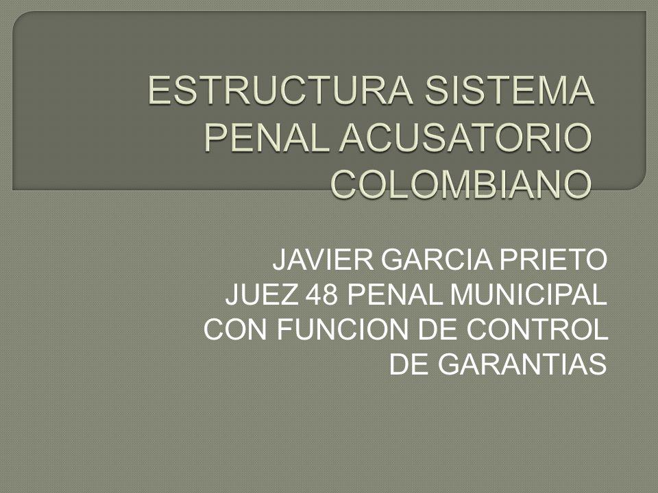 JAVIER GARCIA PRIETO JUEZ 48 PENAL MUNICIPAL CON FUNCION DE CONTROL DE GARANTIAS