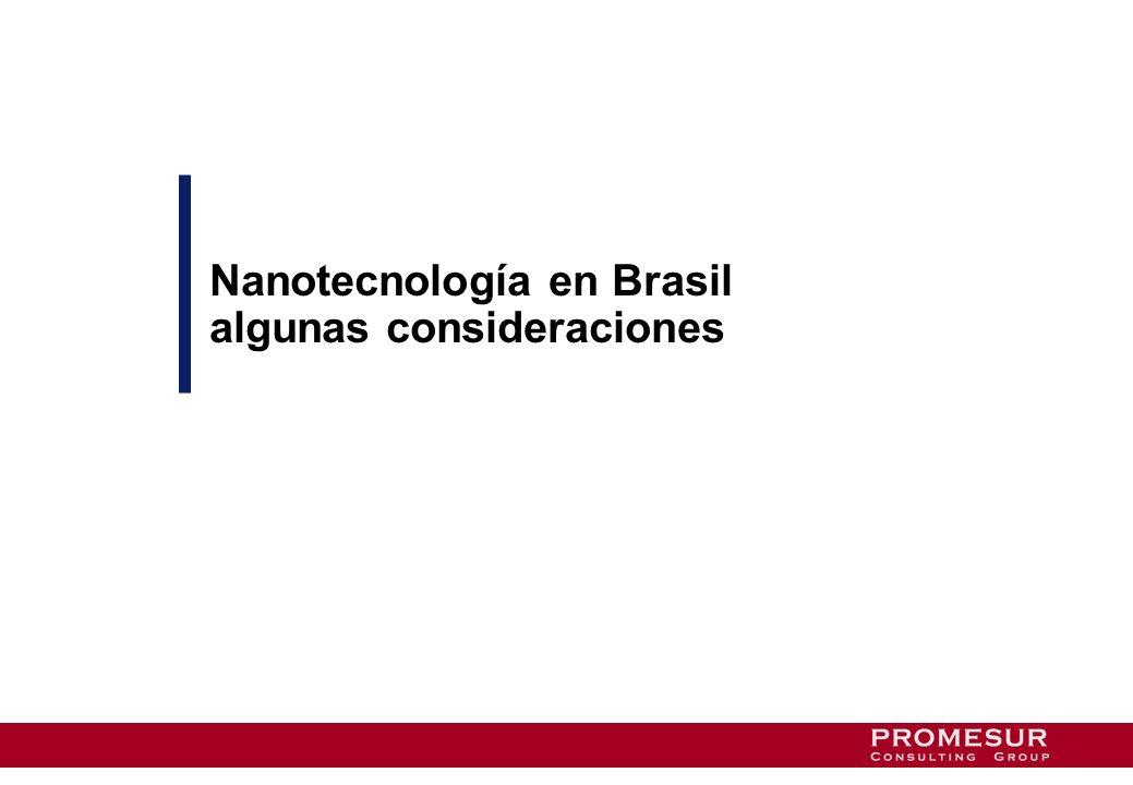 Nanotecnología en Brasil algunas consideraciones