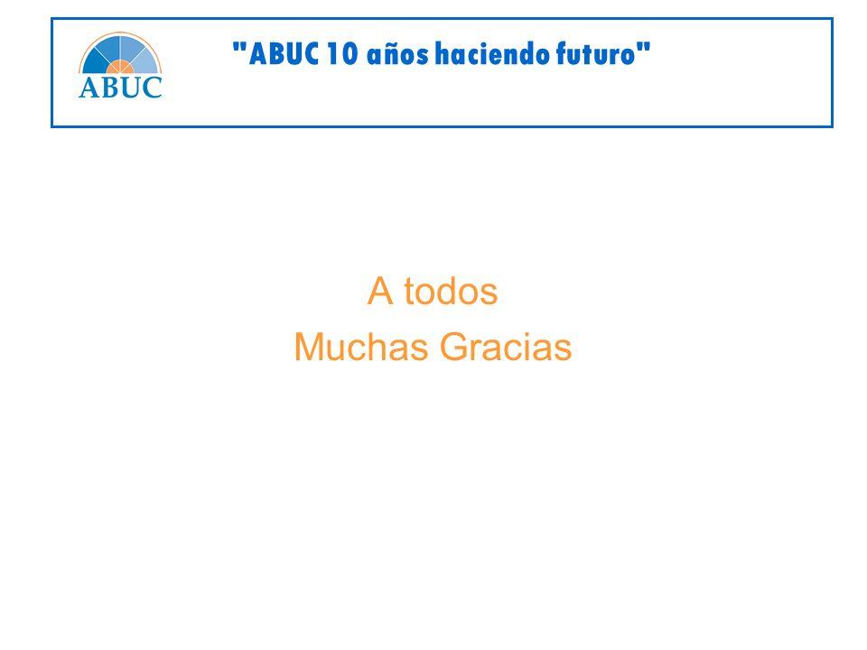 A todos Muchas Gracias ABUC 10 años haciendo futuro