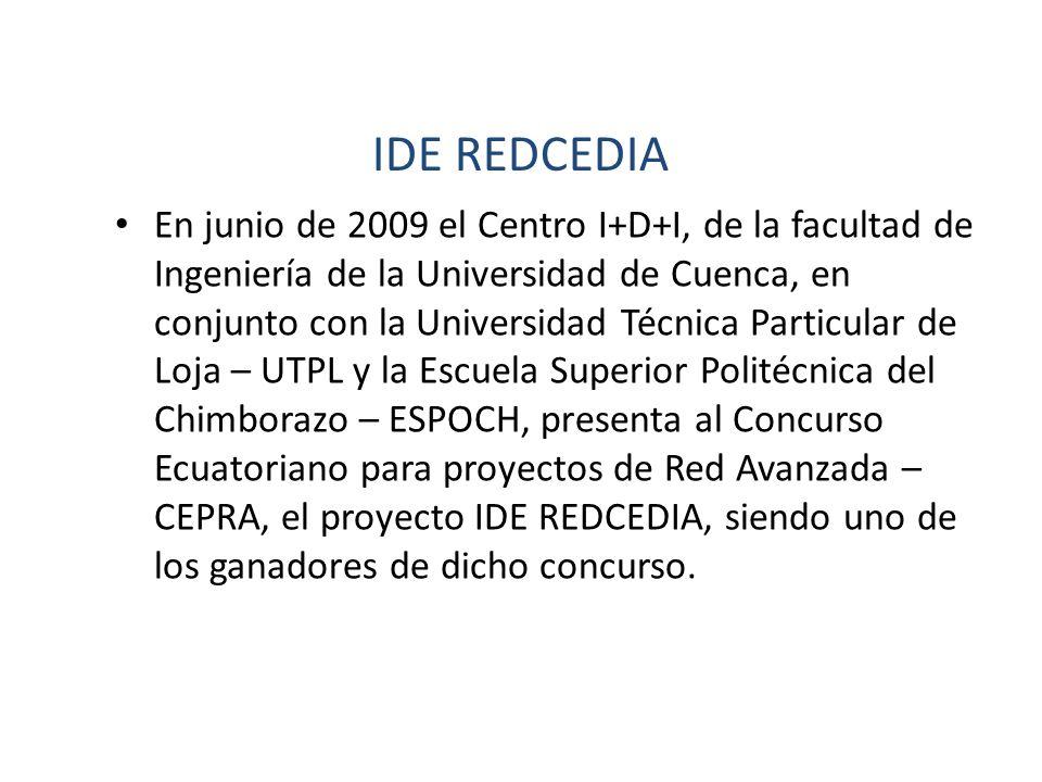 En junio de 2009 el Centro I+D+I, de la facultad de Ingeniería de la Universidad de Cuenca, en conjunto con la Universidad Técnica Particular de Loja
