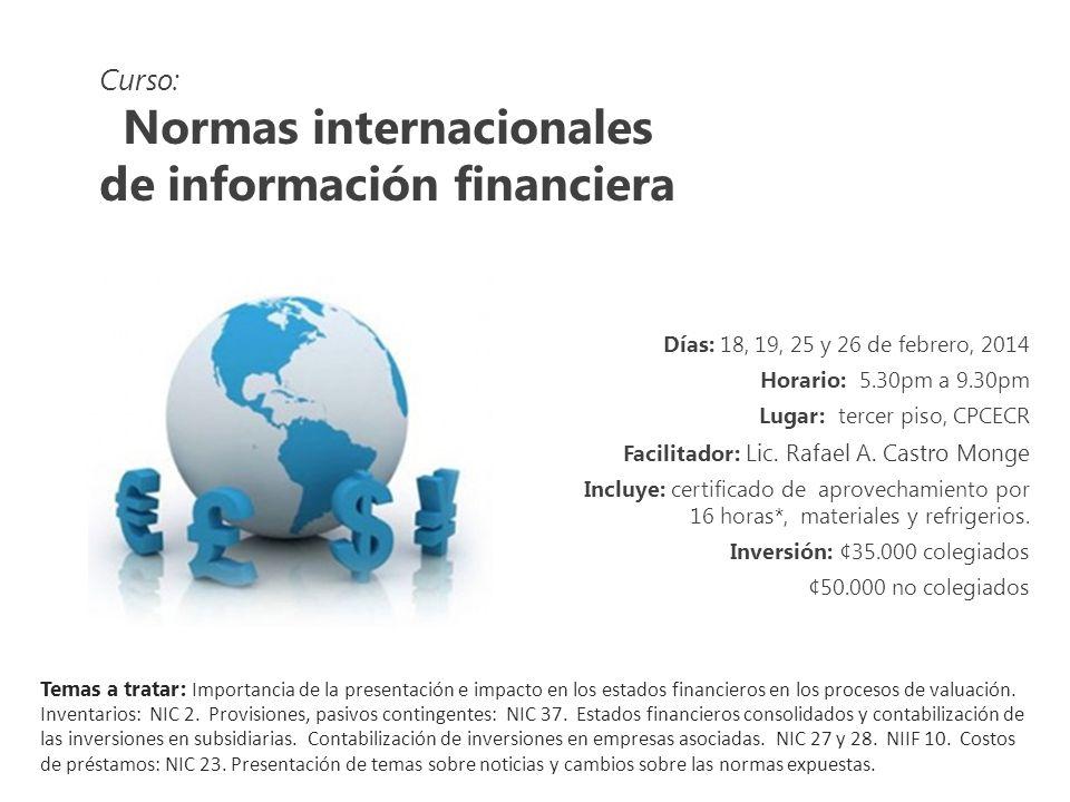 Curso: Redacción administrativa para profesionales en ciencias económicas Días: 8, 15, 22 y 29 de marzo, 2014 Horario: 1.00pm a 5.00pm Lugar: tercer piso, CPCECR Facilitador: MSc.