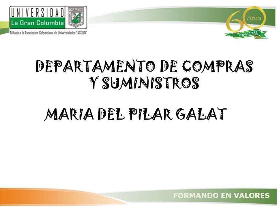 DEPARTAMENTO DE COMPRAS Y SUMINISTROS MARIA DEL PILAR GALAT