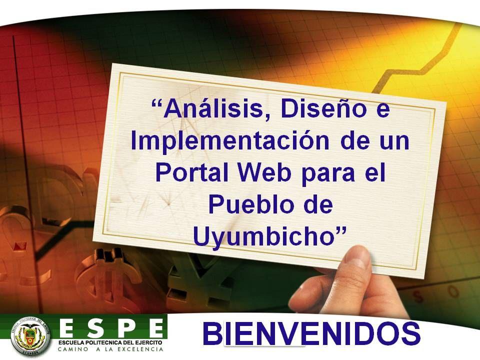 Análisis, Diseño e Implementación de un Portal Web para el Pueblo de Uyumbicho