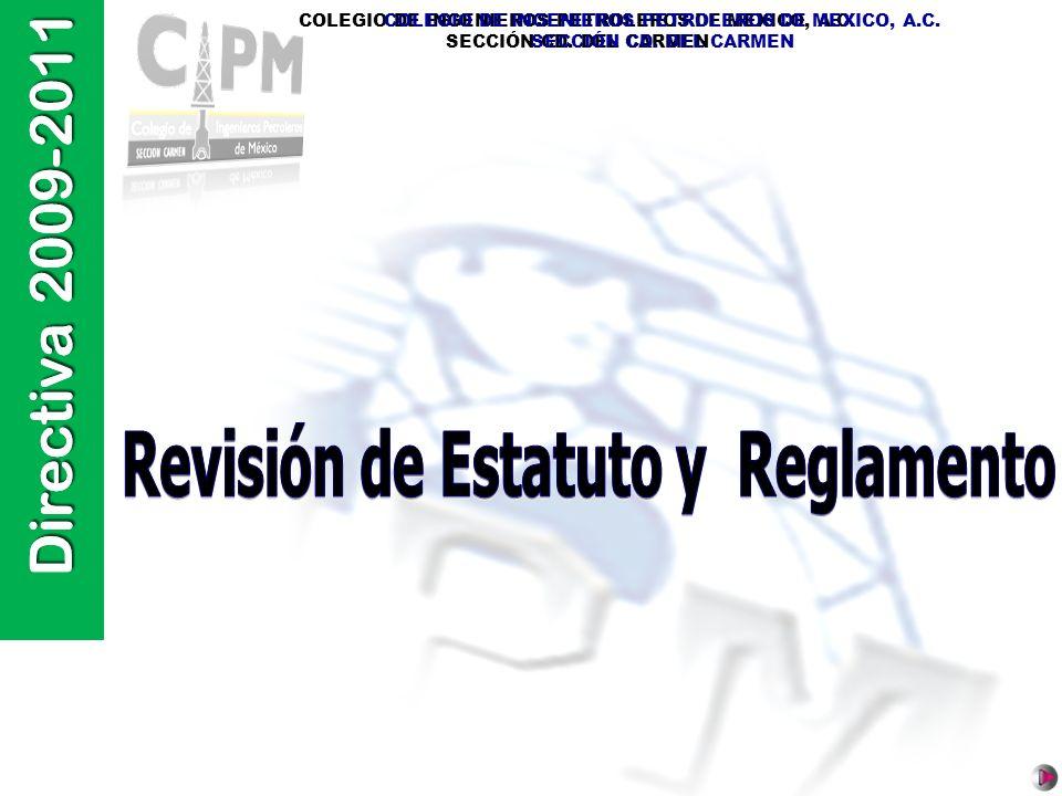 Directiva 2009-2011 COLEGIO DE INGENIEROS PETROLEROS DE MEXICO, A.C. SECCIÓN CD. DEL CARMEN COLEGIO DE INGENIEROS PETROLEROS DE MEXICO, A.C. SECCIÓN C