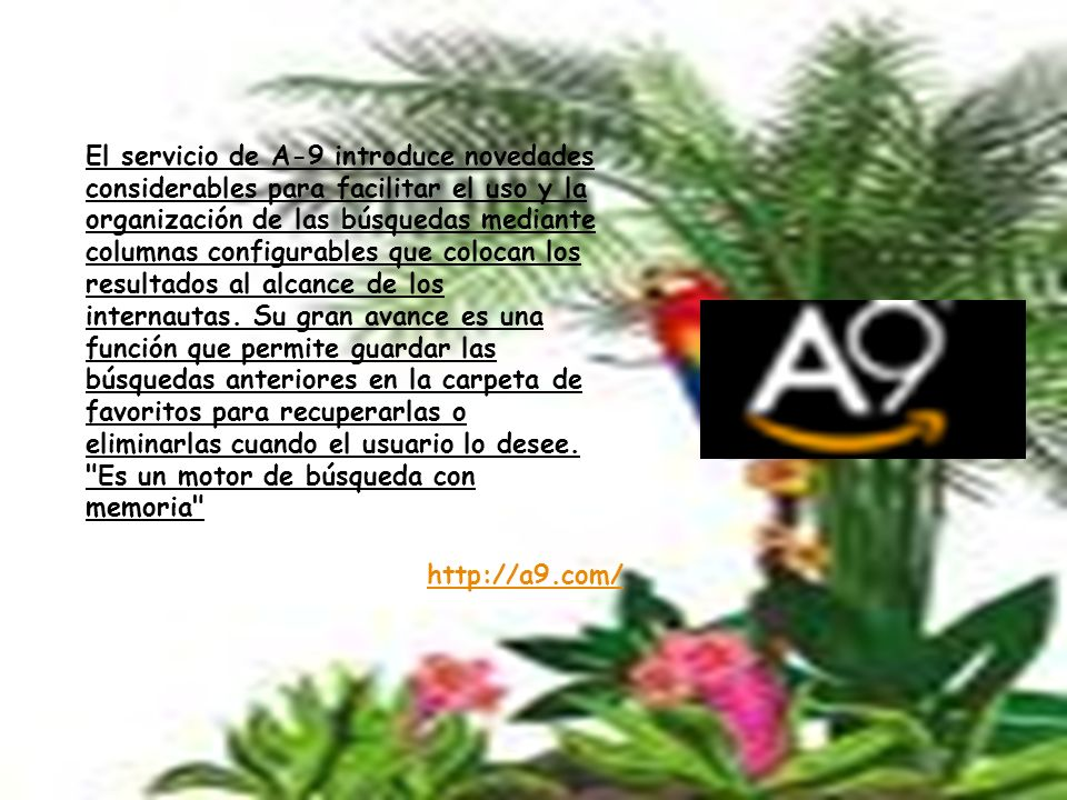 http://alpha.search.wikia.com/ El buscador web