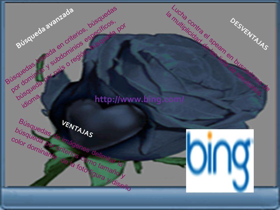http://www.yahoo.comwww.yahoo.com E s e l b u s c a d o r m á s s o l i c i t a d o e n t o d o e l m u n d o. Una de las mayores desventajas de yahoo