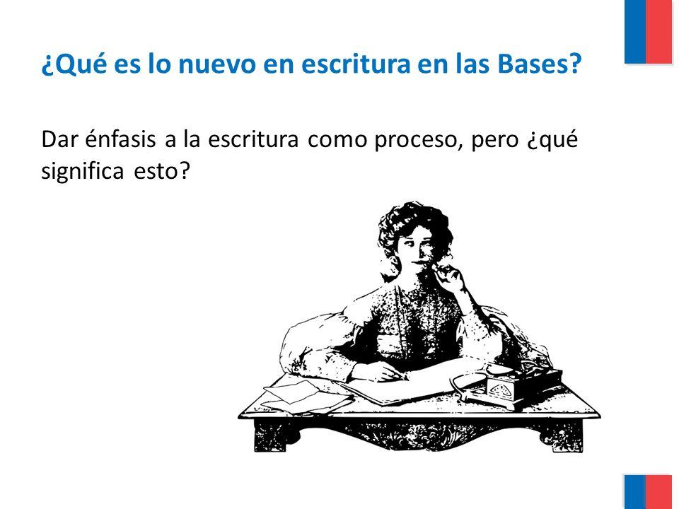 ¿Qué es lo nuevo en escritura en las Bases? Dar énfasis a la escritura como proceso, pero ¿qué significa esto?
