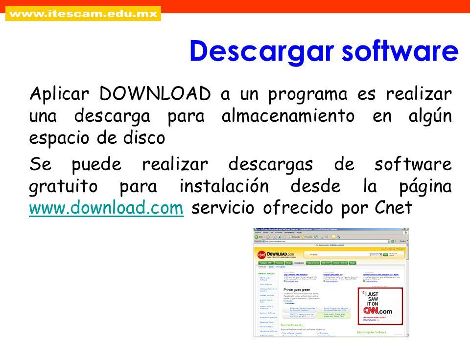 Aplicar DOWNLOAD a un programa es realizar una descarga para almacenamiento en algún espacio de disco Se puede realizar descargas de software gratuito