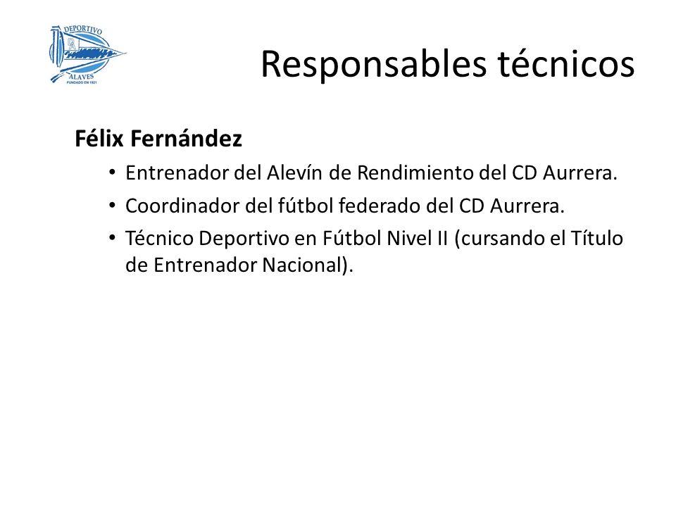 Félix Fernández Entrenador del Alevín de Rendimiento del CD Aurrera. Coordinador del fútbol federado del CD Aurrera. Técnico Deportivo en Fútbol Nivel