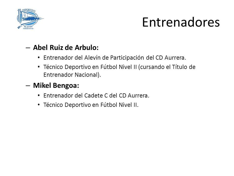 – Abel Ruiz de Arbulo: Entrenador del Alevín de Participación del CD Aurrera. Técnico Deportivo en Fútbol Nivel II (cursando el Título de Entrenador N