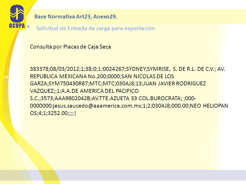 Consulta por Placas de Caja Seca 383378;08/03/2012;1;38;0;1;0024267;SYDNEY;SYMRISE, S.