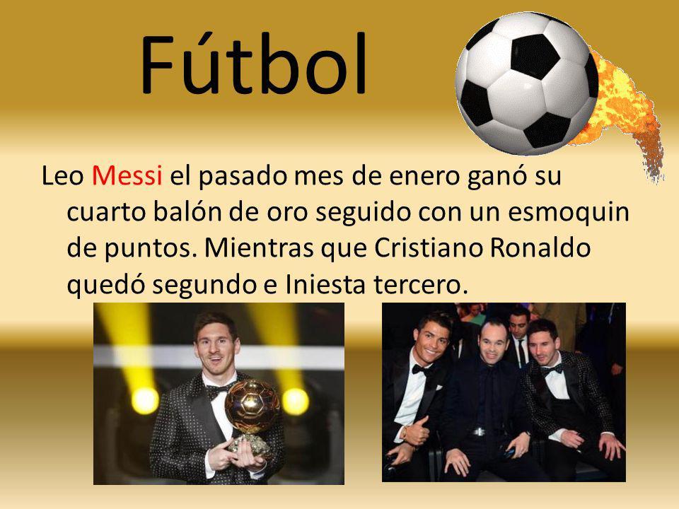 Fútbol Leo Messi el pasado mes de enero ganó su cuarto balón de oro seguido con un esmoquin de puntos. Mientras que Cristiano Ronaldo quedó segundo e