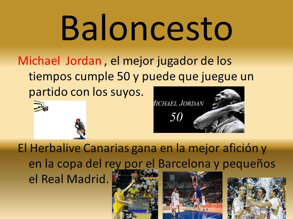 Baloncesto Michael Jordan, el mejor jugador de los tiempos cumple 50 y puede que juegue un partido con los suyos. El Herbalive Canarias gana en la mej