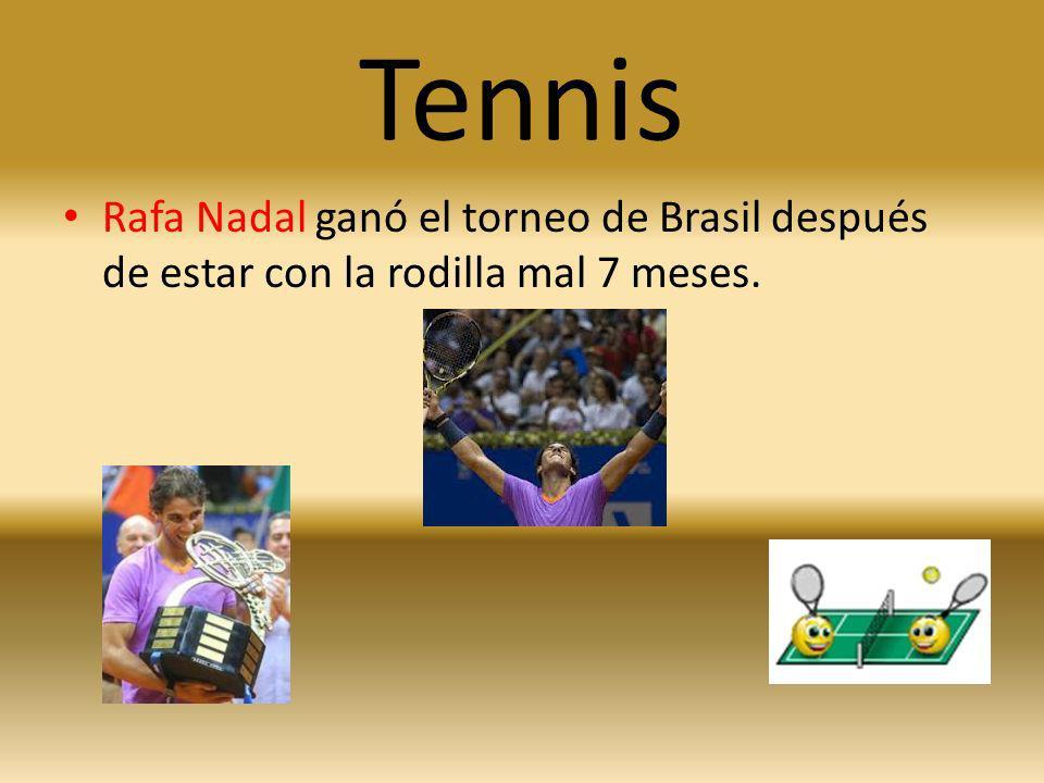 Tennis Rafa Nadal ganó el torneo de Brasil después de estar con la rodilla mal 7 meses.