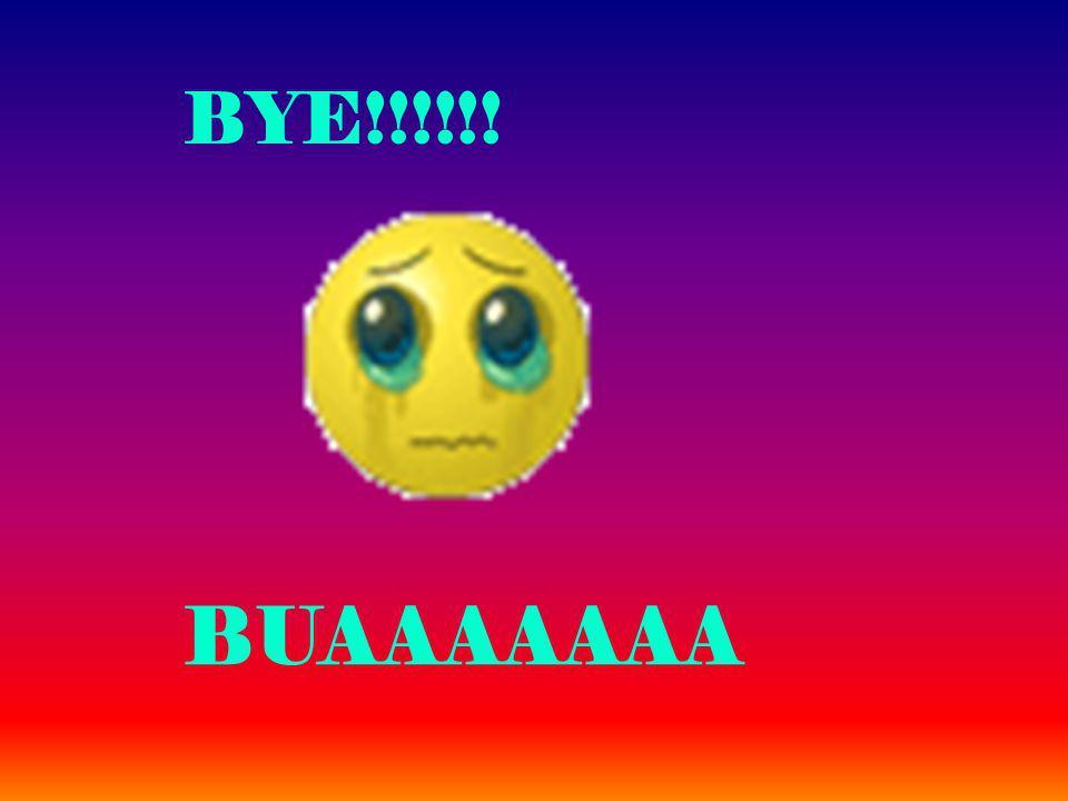 BYE!!!!!! BUAAAAAAA