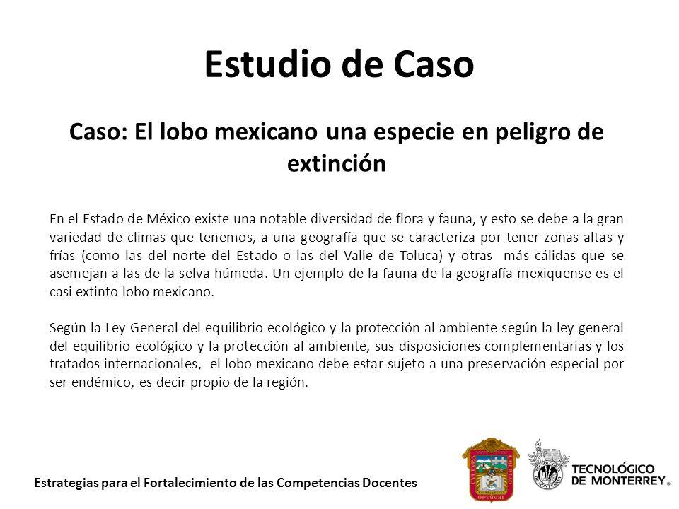 Estrategias para el Fortalecimiento de las Competencias Docentes Estudio de Caso Caso: El lobo mexicano una especie en peligro de extinción En el Esta