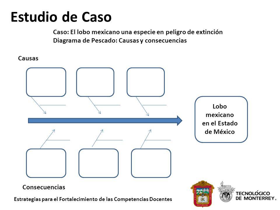 Estrategias para el Fortalecimiento de las Competencias Docentes Estudio de Caso Consecuencias Lobo mexicano en el Estado de México Causas Caso: El lo