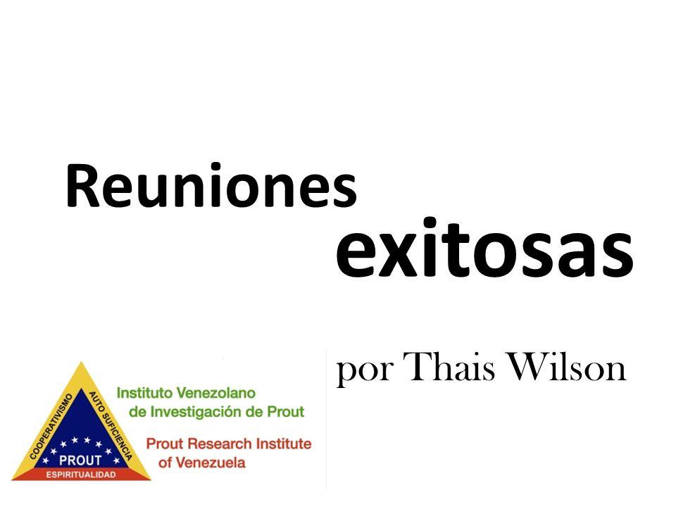 Reuniones exitosas por Thais Wilson
