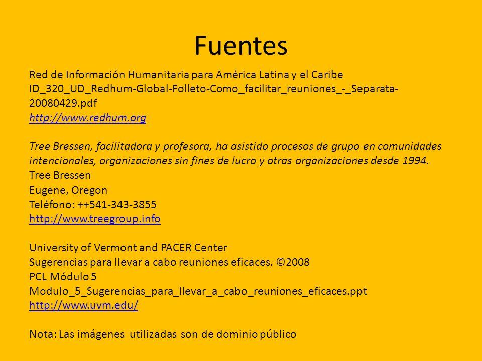 Fuentes Red de Información Humanitaria para América Latina y el Caribe ID_320_UD_Redhum-Global-Folleto-Como_facilitar_reuniones_-_Separata- 20080429.p