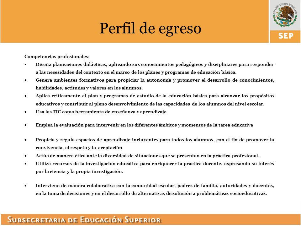 Competencias profesionales: Diseña planeaciones didácticas, aplicando sus conocimientos pedagógicos y disciplinares para responder a las necesidades d