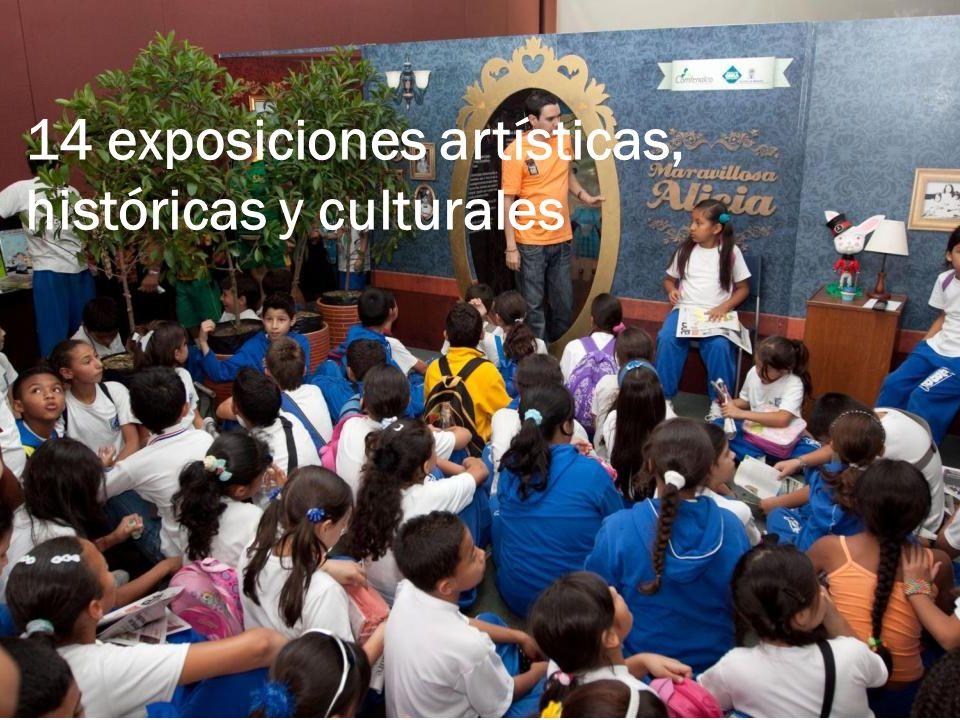 14 exposiciones artísticas, históricas y culturales