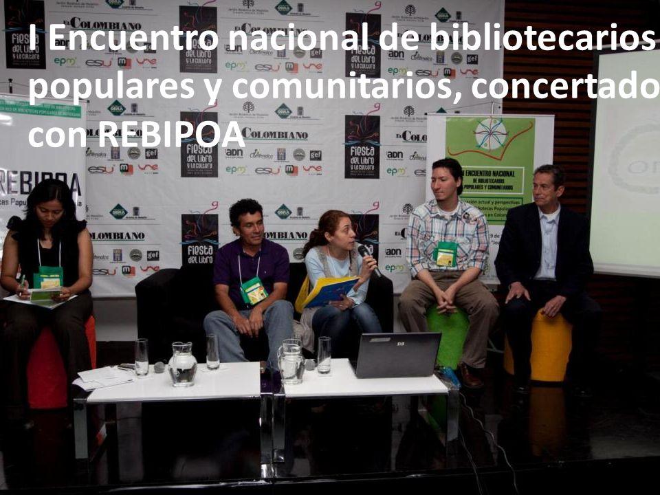I Encuentro nacional de bibliotecarios populares y comunitarios, concertado con REBIPOA