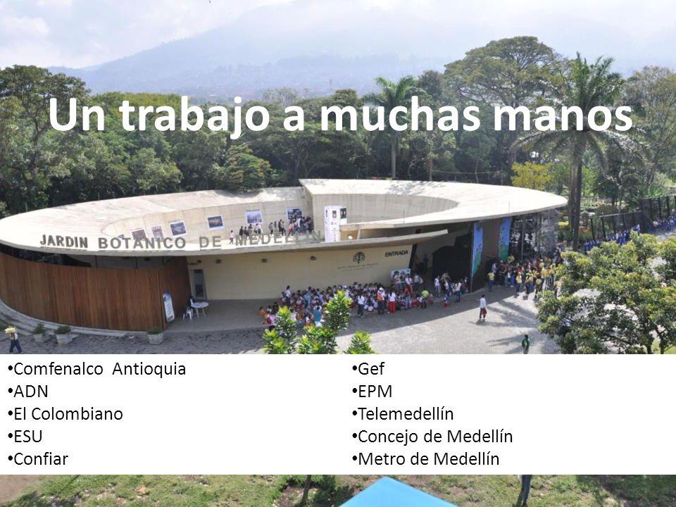 Un trabajo a muchas manos Comfenalco Antioquia ADN El Colombiano ESU Confiar Gef EPM Telemedellín Concejo de Medellín Metro de Medellín