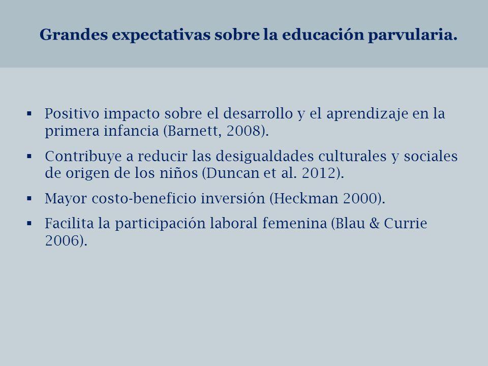 Grandes expectativas sobre la educación parvularia.